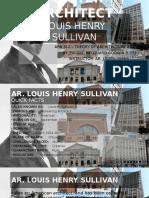 Master Architect (Louis Henry Sullivan)