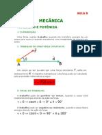 Física - Aula 08 - Mecância - Trabalho e Potência