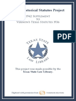 1942 Supplement to 1936 Vernons Texas Statutes