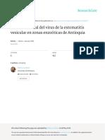 Historia Natural Del Virus de La Estomatitis Vesic