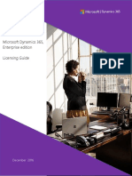 Dynamics 365 Enterprise Edition Licensing Guide