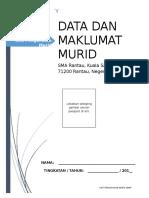 CONTOH Borang Maklumat Murid Apdm SMA Rantau