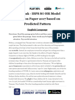 Live Leak - IBPS SO HR Model Question Paper 2017 Based on Predicted Pattern