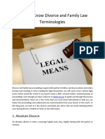 Divorce and Family Law Terminologies