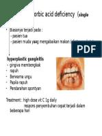 Scurvy Ascorbic Acid Deficiency
