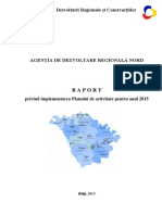 Raport anual // ADR Nord // 2015