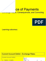 balance of payments exchange rates consequences and correcting