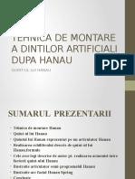 Tehnica de Montare a Dintilor Artificiali Dupa Hanau Pp