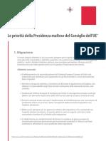 Le priorità della Presidenza maltese dell'Unione Europea