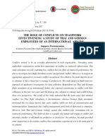The Role of Conflicts on Teamwork Effectiveness-A Study of Thai and German Employees of an International Airline