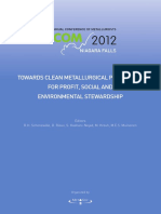 Pyrometallurgy Towards Clean Metallurgical Processing 2012