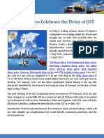 Logistics Shares Celebrate the Delay of GST