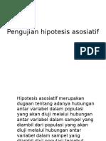 Pengujian hipotesis asosiatif