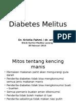 Diabetes Melitus Dr Amie Presentation