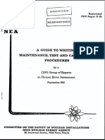 Guide to Writing Maintenance, Test and Calibration Procedures (csni81-68) (1981) WW.pdf