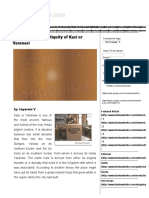 The History and Antiquity of Kasi or Varanasi