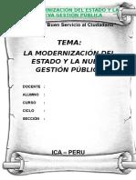 Trabajo Monografico de La Modernización Del Estado y La Nueva Gestión Pública