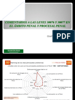 Comentarios a Las Leyes 30076 y 30077 en El Ámbito Penal y Procesal Penal