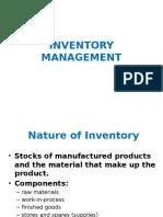 12). Inventory Management