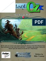 Heroes of Oz Instant Oz Quickstart Rules
