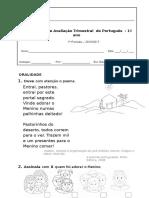PLIM Ficha de Avaliação Português 1º Periodo