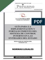 Guía para la implementación y fortalecimiento del Sistema de Control Interno en las entidades del Estado