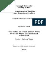Translator as a Text Editor