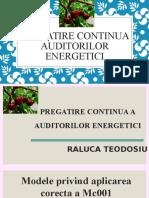 Pregatire Continua a Auditorilor Energetici