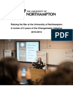 Five Years of Changemaking at the University of Northampton