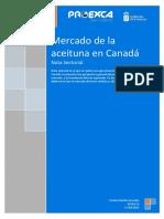 2014 Nota Sectorial Aceituna en Canadá