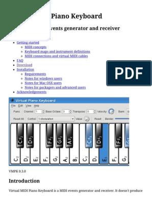 VMPK  Virtual MIDI Piano Keyboard pdf | Synthesizer