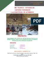 Informe Cantera Yorongos
