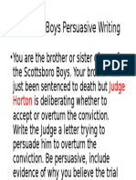 letter to judge horton