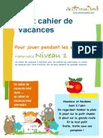 Cahier de Vacances Maternelle 1