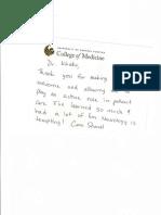 Aunali Khaku medical Student Recommendation appreciation neurology