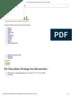 El Chocolate Protege Los Recuerdos - Club Salud Natural