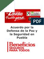 Acuerdo Paz y Seguridad en Puebla