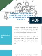 Benefícios de Atividades Musicalizadoras Na Prática Do Canto