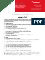 Stellenanzeige_ Assistent/-in