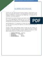 Historia Del Canal Aereo de Cascajal