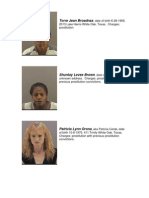Prostitution Sting Results 6-25-10