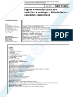 NBR 14936_abr2003 - Plugues e Tomadas Para Uso Doméstico e Análogo - Adaptadores - Requisitos Específicos
