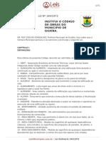 Lei Ordinaria 194 1973 Guaiba RS_CÓDIGO de OBRAS