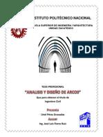 Tesis Analisis y Diseño de Arcos