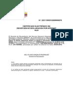 Certificado Declaracion ISLR 2015