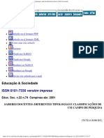 Educação & Sociedade - Teacher knowledge_ some typologies and classification.pdf