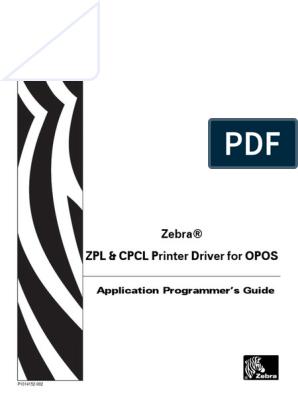 Zebra OPOS ZPL & CPCL Programmers Guide | Typefaces | Device