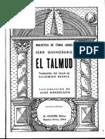 Iser Guinzburg, El Talmud (Cap. VIII - Anotación de La Ley Oral)