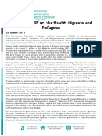 IFMSA and IPSF on the Health Migrants and Refugees