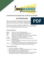 TC3 500 Instructions